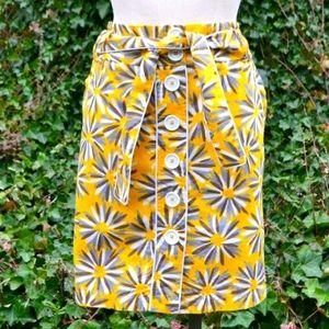 Trucco 44 US 12/14 Retro Abstract Print Mini Skirt